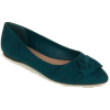 Wide Fit Green Suedette Knot Bow Pumps - Loafers - £17.99  ~ $23.67