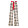 Wide Leg check pants - Capri & Cropped -