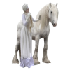 Winter model with horse - Persone -