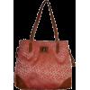 Women's Large Tommy Hilfiger Tote Handbag Peach/Beige Alpaca - Hand bag - $109.00