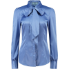 Women's Periwinkle Blue Fitted Satin Blo - Camicie (lunghe) - $40.00  ~ 34.36€