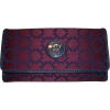 Women's Tommy Hilfiger Continental Checkbook Wallet (Burgandy & Navy) - Wallets - $49.99