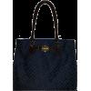 Women's Tommy Hilfiger Large Tote Handbag (Navy/Blue Large Logo) - Hand bag - $99.00
