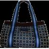Women's Tommy Hilfiger Medium Iconic Handbag (Navy/White/Light Blue/Brown) - Hand bag - $99.00