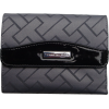 Women's Tommy Hilfiger Small French Wallet (Grey Trimmed with Brown)Large TH's - Brieftaschen - $38.00  ~ 32.64€