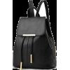 Women Black Travel Backpack Rucksack Fau - Backpacks - $39.99