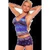 Womens Two Piece Halter Tankini Boyshort Bikini Summer Beach Swimsuit - Swimsuit - $43.99
