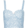 Women's Blue Lace Corset Bralet Top  - Camisas sin mangas - 8.00€