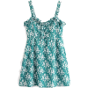 Wooden ear floral strap dress - Dresses - $27.99