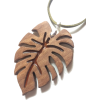 Wood pendant Monstera Large wood necklac - Подвески - $24.99  ~ 21.46€