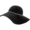 Wool Floppy Hat With Rhinestone Hat Band - Cappelli -
