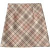Woolen plaid mini skirt - Skirts -
