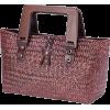 Woven Straw Bag - Hand bag -