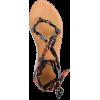 Wrap-around sandals in paisley - Sandalias -