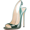 YELUOHK teal patent heels - Classic shoes & Pumps -