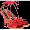 Y/PROJECT Metallic faux leather sandals - Sandals -