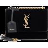YSL Black Velvet Tote - Hand bag -