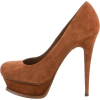 YSL Brown Tribute Pump - Sapatos clássicos -
