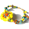 Yellow Lampwork Flower Bracelet - Pulseiras - $80.00  ~ 68.71€