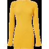 Yellow. Dress - Платья -