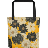 Yellow Floral Patterns Tote bag - Hand bag - $25.00