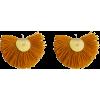 Yellow Hand Fan Earrings - Earrings -
