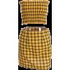 Yellow Plaid Short Skirt Set - Suits - $27.99