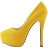 Yellow Platform Heel - Classic shoes & Pumps -