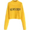 Yellow. Pullover. News boy - Jerseys -