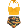 Yellow Sunflower Bikini - Costume da bagno -
