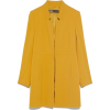 Yellow Zara coat - Jacket - coats -