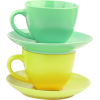 Yellow and Green Teacups - Articoli -