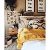 Yellow and brown bohemian bedroom - Furniture -