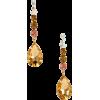 Yellow and white earrings - イヤリング -