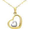 Yellow and white gold heart pendant neck - Collares - £139.95  ~ 158.16€