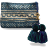 Yosuzi straw clutch in royal blue - Carteras tipo sobre -
