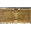 ZAGLIANI Gold Python Skin Purs - Torbice -