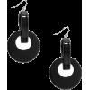 ZENZII BLACK  DROP EARRINGS - Earrings - $21.00
