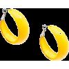 ZENZII TRENDY HOOP EARRINGS-YEL - Earrings - $18.00