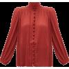 ZIMMERMANN  Espionage Swiss-Dot plissé-c - Long sleeves shirts -