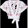 ZIMMERMANN Laelia cross-stitched top - Camisa - curtas -