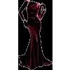 Zac Posen Bordeaux Red Gown - Obleke -