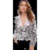Zaful Polka Dot plunging blouse - Menschen - $21.99  ~ 18.89€