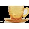 Zara home glass Tea cup and saucer - Furniture -