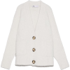 Zara knit white cardigan - Puloverji -