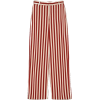 Zara white and red striped trousers - Capri & Cropped -