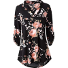 Zattcas Womens Floral Top - Tunic -
