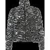 Zebra black and white contrast zipper ca - Jakne i kaputi - $35.99  ~ 228,63kn