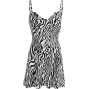 Zebra print slim fashion dress - Dresses - $25.99