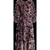 Zelena Astaire Print Velvet Gown - Dresses -